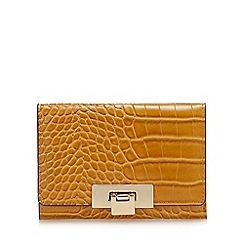 J by Jasper Conran - Mustard Croc Effect 'Bordeaux' Medium Purse