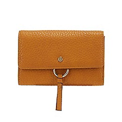 RJR.John Rocha - Mustard 'Borough' Medium Flap Over Purse