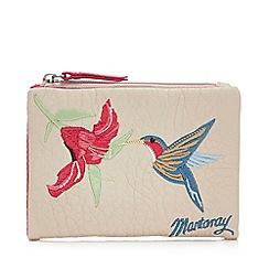 Mantaray - Cream Floral Embroidered Medium Flap Over Purse