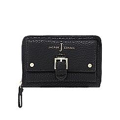 J by Jasper Conran - Black buckle detail zip-around wallet