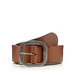 Mantaray - Tan buckled leather belt