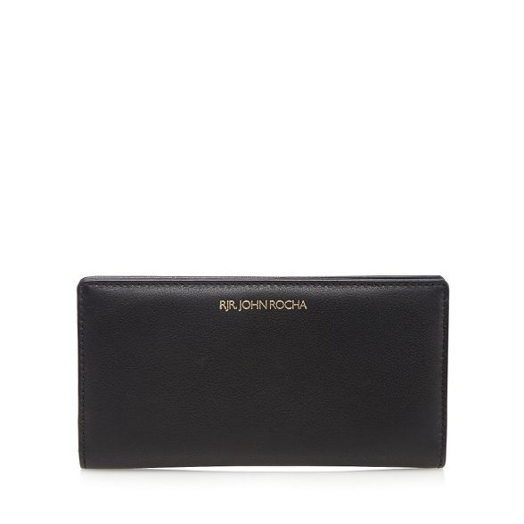 zip John Rocha leather Boxed wallet Black around RJR wfOa6qPxpq