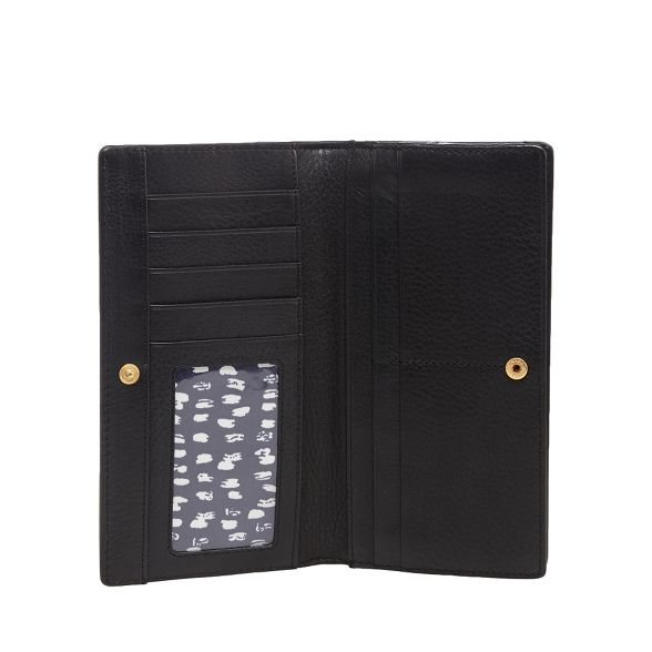 wallet Black leather Boxed RJR zip around Rocha John qIFI0t