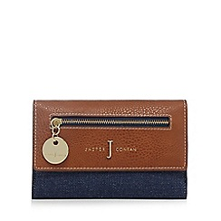 J by Jasper Conran - Navy denim flap-over wallet