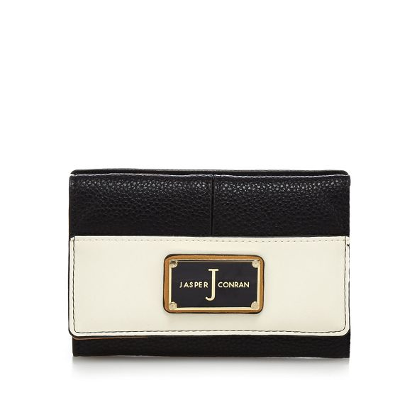 Jasper Black flap over J wallet Conran textured by WzZycPvc