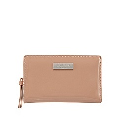 Principles by Ben de Lisi - Peach soft patent fold over wallet