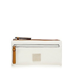 Principles - White soft fold over purse