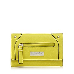 Principles - Lime front zip fold over purse