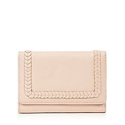 The Collection - Light pink leather disc applique   flapover purse