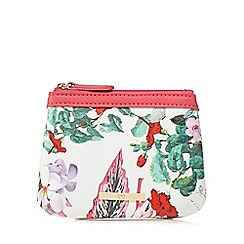 The Collection - Pink floral print coin purse