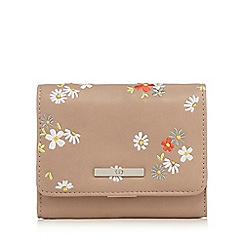 The Collection - Natural floral embroidered small flap over purse
