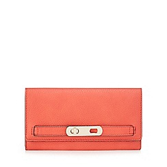 J by Jasper Conran - Red twist lock flapover wallet