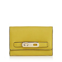 J by Jasper Conran - Yellow medium foldover purse