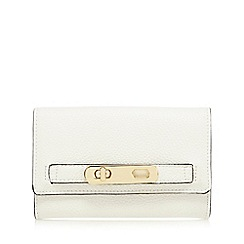 J by Jasper Conran - White medium foldover purse