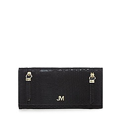 Star by Julien Macdonald - Black snakeskin-effect large foldover purse