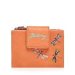 Mantaray - Coral dragonfly embroidered purse