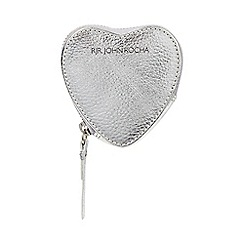 RJR.John Rocha - Silver leather heart coin purse
