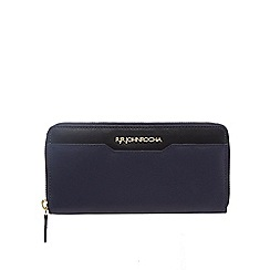 RJR.John Rocha - Navy two tone zip-around wallet