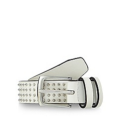 Red Herring - White studded belt