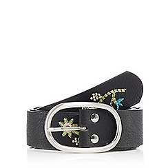 Red Herring - Black embroidered belt