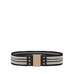 Mantaray - Black embellished belt