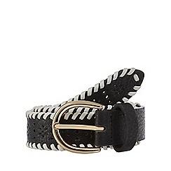 Mantaray - Black cut-out woven belt