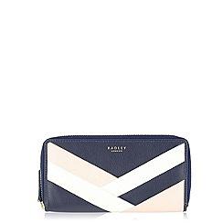 Radley - Navy Singer St large zip around matinee purse