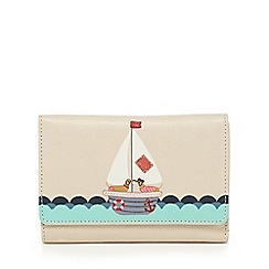 The Collection - Cream leather yacht print purse