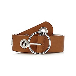 Red Herring - Tan eyelet waist belt