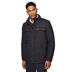 The Collection - Big and tall grey quilted jacket with wool