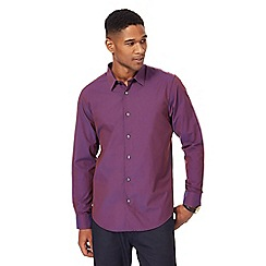 The Collection - Big and tall purple tonic tailored fit shirt