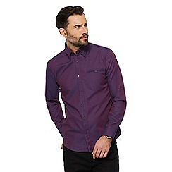 The Collection - Big and tall purple two tone spot print tailored shirt