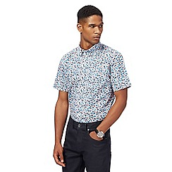 The Collection - Big and tall multi-coloured floral print tailored fit shirt