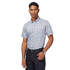 The Collection - Big and tall light blue dandelion print tailored fit shirt