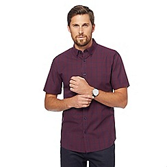 The Collection - Dark red checked tailored fit shirt