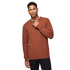 The Collection - Big and tall dark orange lambswool-blend crew neck jumper