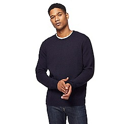 The Collection - Navy lambswool-blend crew neck jumper
