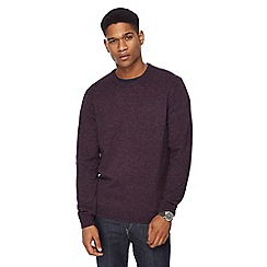 The Collection - Big and tall dark purple lambswool blend jumper