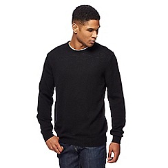 The Collection - Black lambswool-blend crew neck jumper