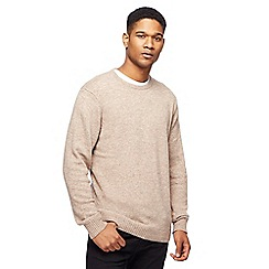 The Collection - Big and tall natural lambswool-blend crew neck jumper