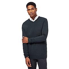 The Collection - Dark green V neck jumper