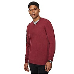 The Collection - Dark pink V neck jumper