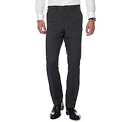 The Collection - Big and Tall Dark Grey Puppytooth Tailored Fit Trousers
