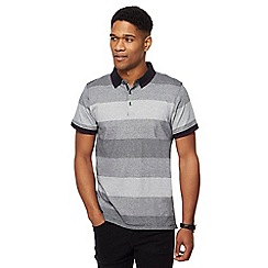 The Collection - Big and tall black gradient stripe polo shirt