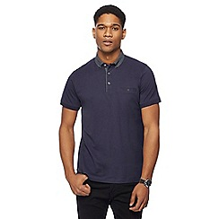 The Collection - Navy spotted collar polo shirt
