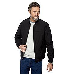 The Collection - Big and tall black bomber parachute jacket