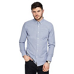 The Collection - Big and tall blue patterned tailored fit shirt