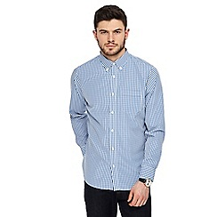 The Collection - Big and tall blue gingham checked shirt