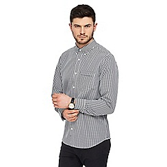 The Collection - Big and tall black gingham checked shirt