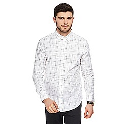The Collection - White sketch print tailored fit shirt